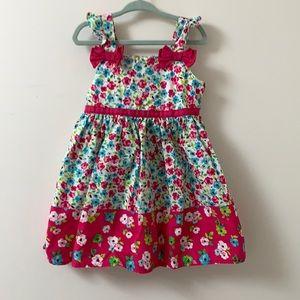 Nannette kids floral ruffled sleeve dress